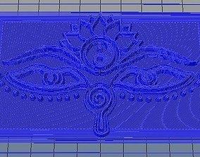 3D printable model eyes-of-buddha-symbol