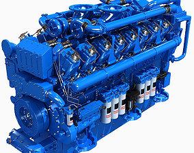 V16 Blue Engine 3D model