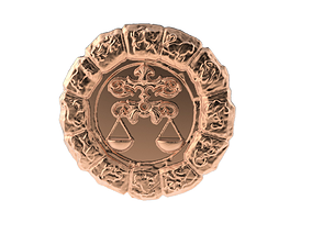 Medal Astro Libra 3D printable model
