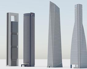 3D model Madrid Cuatro Torres Bussines Area