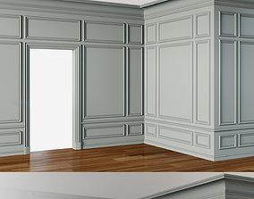 Wall Molding 3 Boiserie Classic Panels 3D model