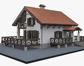 3D Alpine House Flat