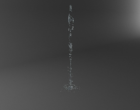 3D Realistic Water Jet Exterior Fountains Animation