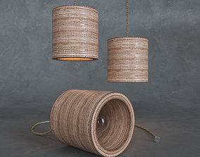Lamp C-light plywood 3D asset