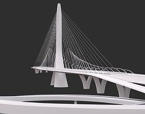 Zaha Hadid Architects Danjiang Bridge in Taiwan 3D model