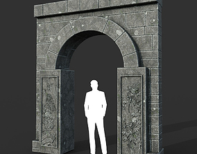 3D model Low poly Ancient Dragon Temple Element 17