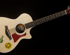 3D model game-ready Taylor Guitar 313ce