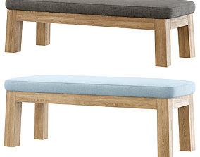 3D asset Niek outdoor bench by Piet Boon