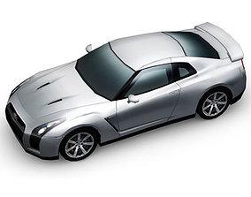 3D model Nissan GT-R Multi Color