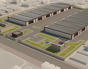 Warehouses 3D exterior