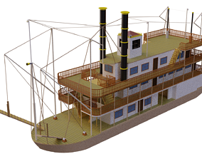 3D River prince steamer steamboat
