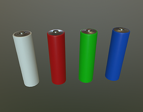 3D model low-poly AA Battery