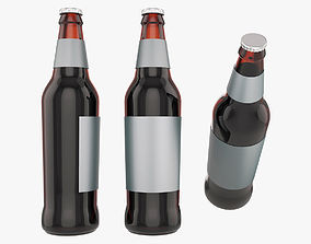 Standart beer bottle 3D model