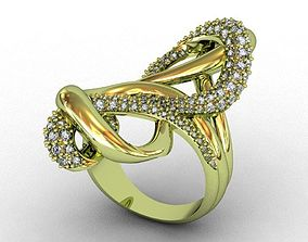 Diamond Ring design 3D print model