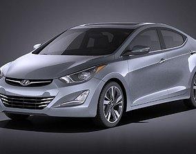Hyundai Elantra Sedan 2016 VRAY 3D model