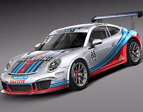 3D model Porsche 911 GT3 Cup 2013 Martini