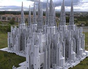 3D model Victorian architecture 4 Gothic Halloween theme