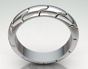 personalized 3D printable model Ring band man REF-111
