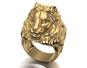 lion ring men 3D printable model