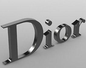 3D model Dior logo 2