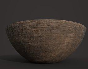 3D asset Simple Dark Wood Bowl