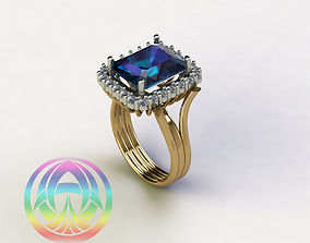 3D printable model jewelry sterling fashion brilliant