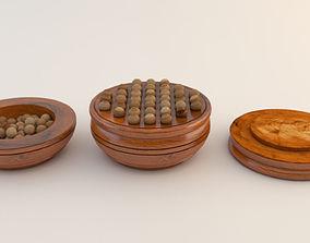 Wood Peg Solitaire 3D model