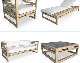 3D Kontiki Wooden Outdoor Furniture outdoor