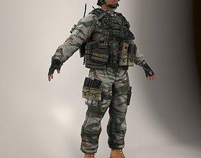 3D model Soldier Black Lite V1 Not Rigged
