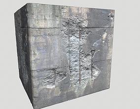 3D model Damaged Concrete 1