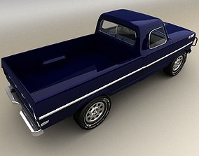 3D model game-ready Blue Pickup
