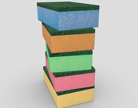 Sponges 3D asset