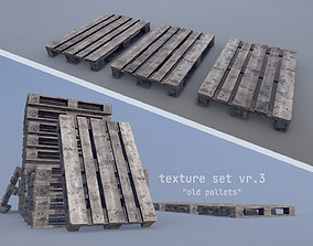 3D asset Cargo Wood Pallets EUR EPAL vr-3