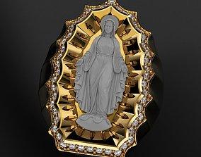 3D printable model Virgin Mary Ring