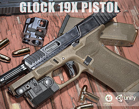 Glock 19x 3D asset realtime
