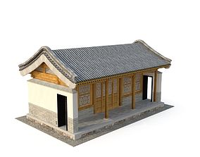 3D model Ancient Chinese Architecture Distribution room 03