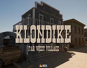 Klondike - Far West Village - Blender and FBX 3D model