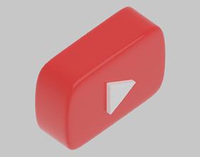 3D model highpoly Youtube Logo