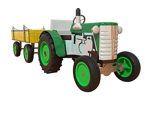 Toy tractor 3D model