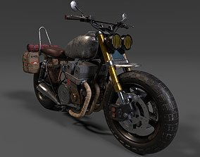 Survivor Motorcycle Post Apocalyptic Game Ready 3D asset