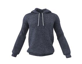 men hoodie jacket 3D model