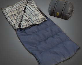 CAM - Sleeping Bag 02 - PBR Game Ready 3D model