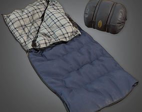 Sleeping Bag 02 - PBR Game Ready 3D model