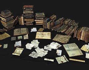 Book Collective 3D asset
