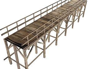 3D Old Wooden Bridge
