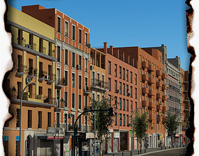 3D model European City Block 03