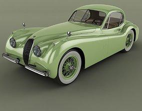 3D model Jaguar XK120 Coupe