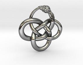 3D print model Snake Celtic Knot Pendant