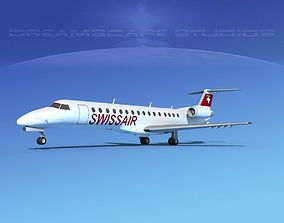 Embraer ERJ-140 Swissair 3D model
