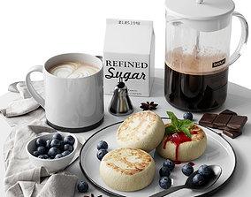 Coffee set 4 3D model